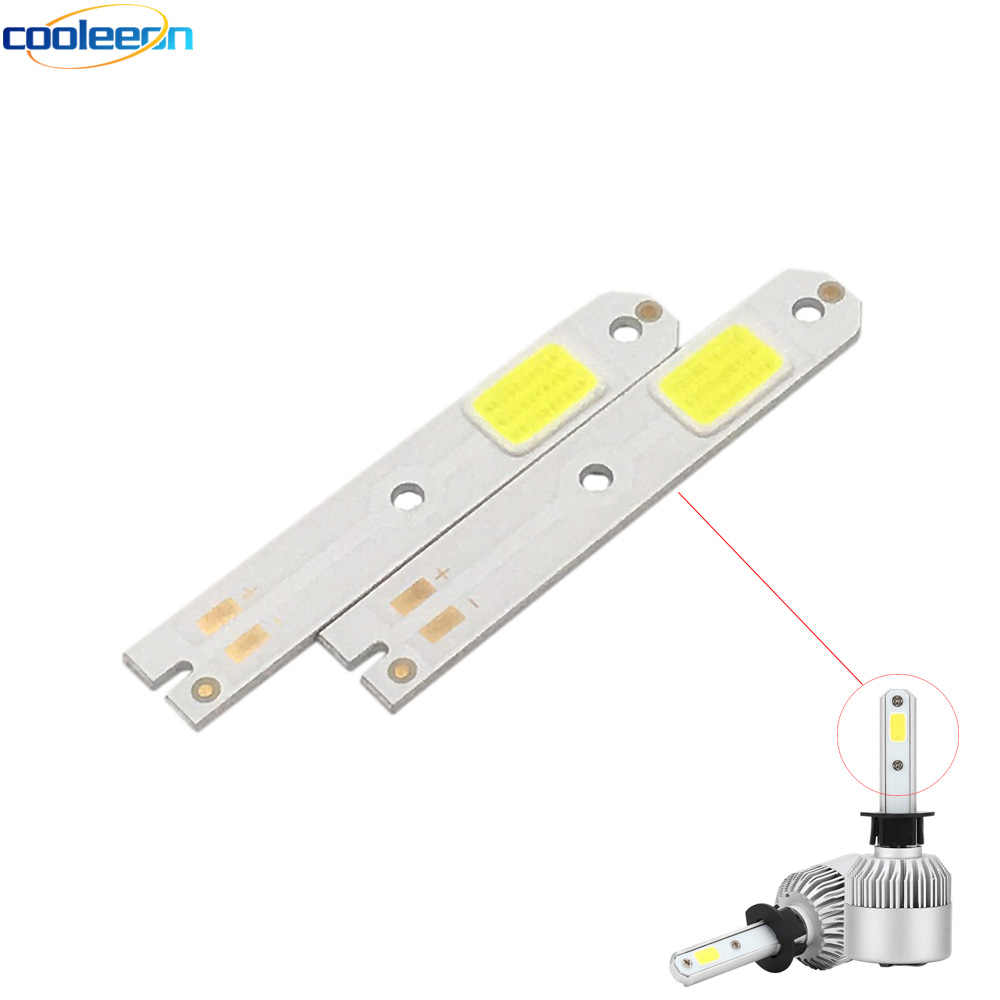 4pcs S2 Car Headlight COB Chip LED Light Source H1 H3 H4 H7 H11 9005 9006 9012 COB Bulb for S2 Auto Lamps Headlamp LED COB Chips