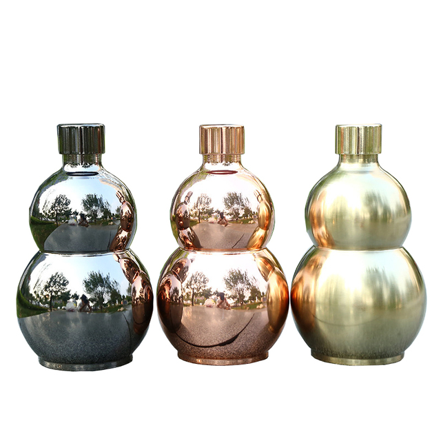 64oz Gourd Wine Gl Pot Hip Flask Whisky For Alcohol Bottle 1 57kg Capacity Stainless