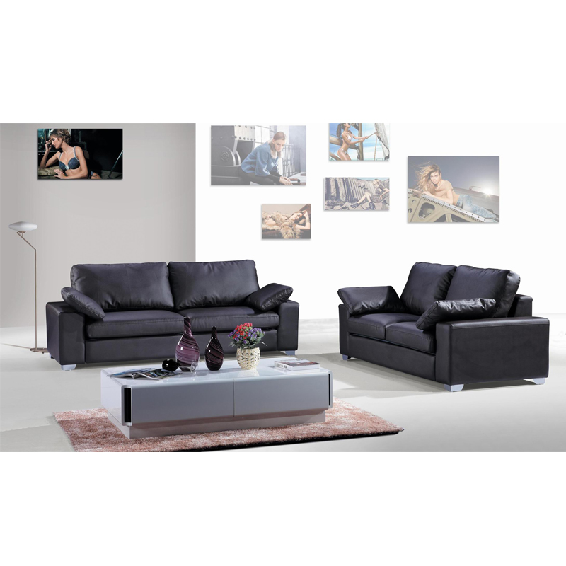 US $1390.0 |Black modern corner leather sofa set with 4 seaters-in Living  Room Sofas from Furniture on Aliexpress.com | Alibaba Group