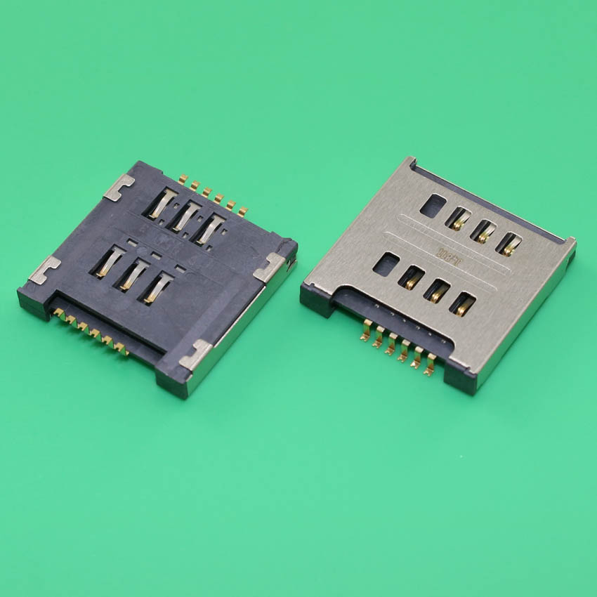 YuXi 2pcs/lot SIM Card Socket Slot Reader Holder Repair Replacement for LG E615 E715 E455 High quality