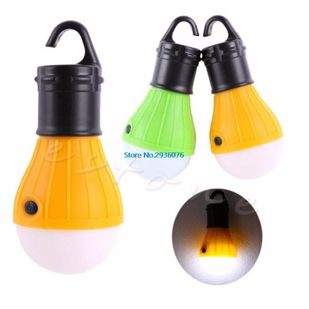 Portable Lanterns outdoor Hanging 3LED Camping Lantern Soft Light LED Camp Lights Bulb Lamp For Camping Tent Fishing MY13_30