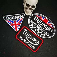 Triumph etiqueta de ferro para motociclistas, remendo bordado para jaqueta, punk motocicleta, motoqueiro