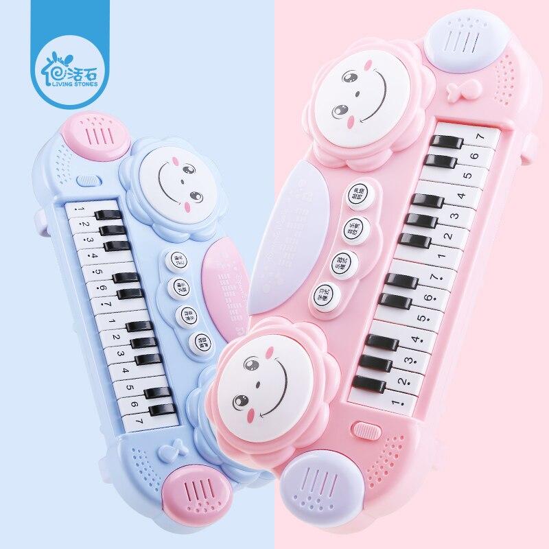Pierres vivantes bébé enfants Instrument de musique électronique Piano main tambour orgue électronique jouet Musical cadeau