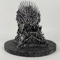 Game of Thrones action figure Toys Sword Chair Model Toy Song of Ice and Fire The Iron Throne Desk Christmas Gift 17cm все цены