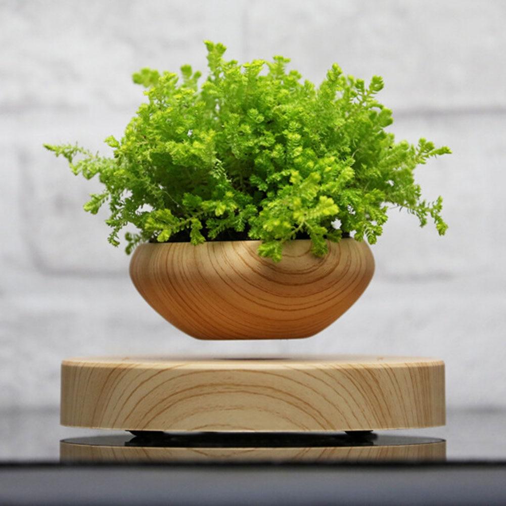3Pcs/Set! Magnetic Levitation Air Floating Bonsai Plant Pot Mini Plastic Flower Sky Plant Pot Succulent Plant Pot U.S. Regula