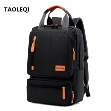 Anti theft Men s Nylon Backpacks 15 6 inch Laptop Backpack Male Leisure Travel Rucksack Black