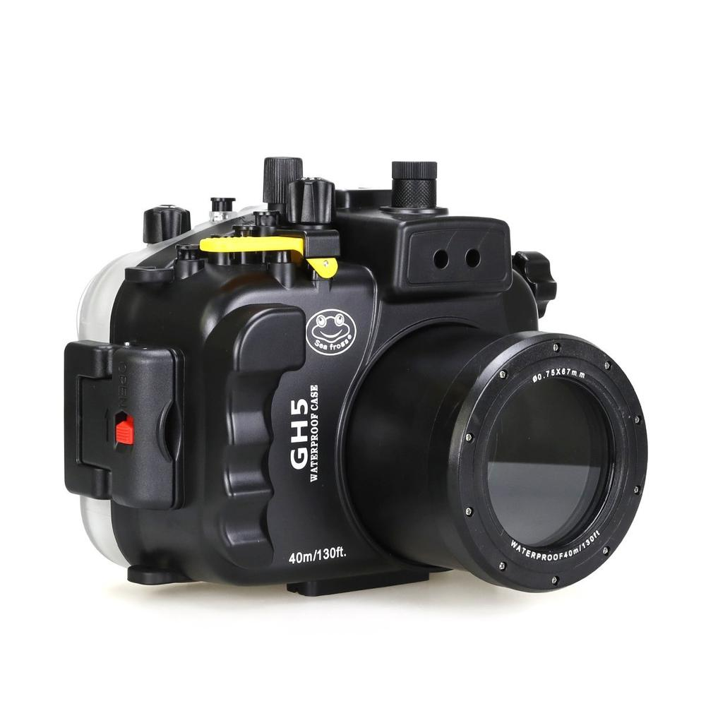 Meikon Seafrogs 40m 130ft Underwater Camera Housing Case for Panasonnic GH5,Waterproof Bags Case for Panasonnic GH5 Camera meikon 40m 130ft underwater waterproof camera housing case for sony a6000 16 50 lens red filter