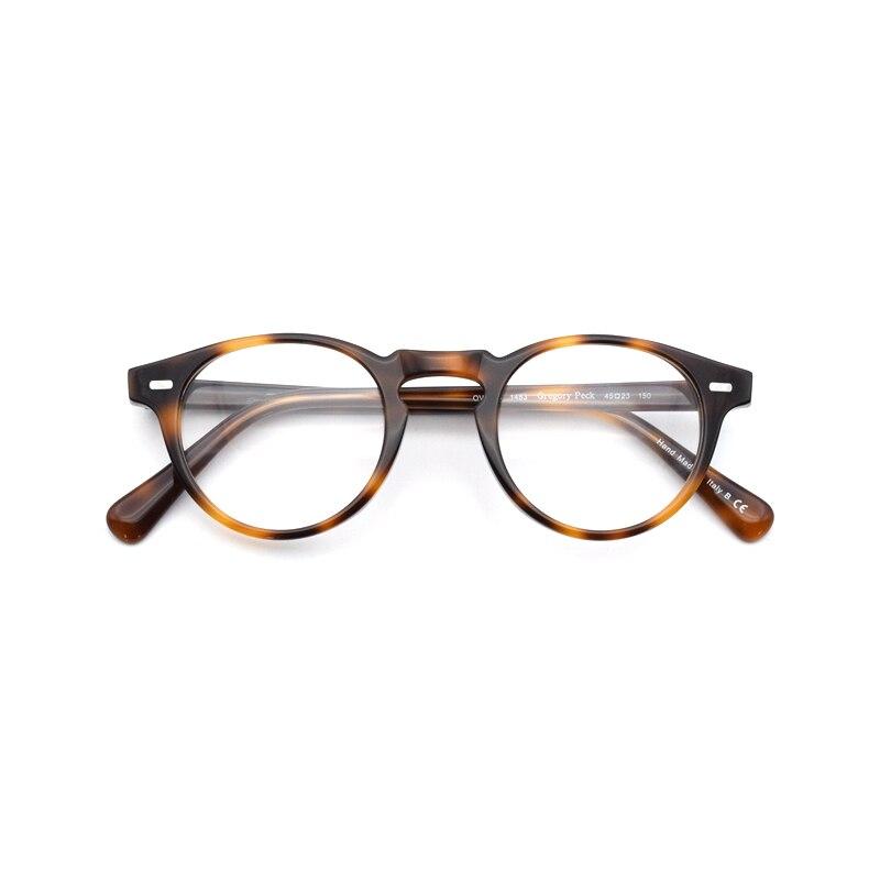 b882ebab83e Vintage Optical Glasses Frame Gregory Peck OV 5186 Round Retro Prescription  Eyeglasses For Men and Women Acetate Eyewear Frames-in Eyewear Frames from  ...
