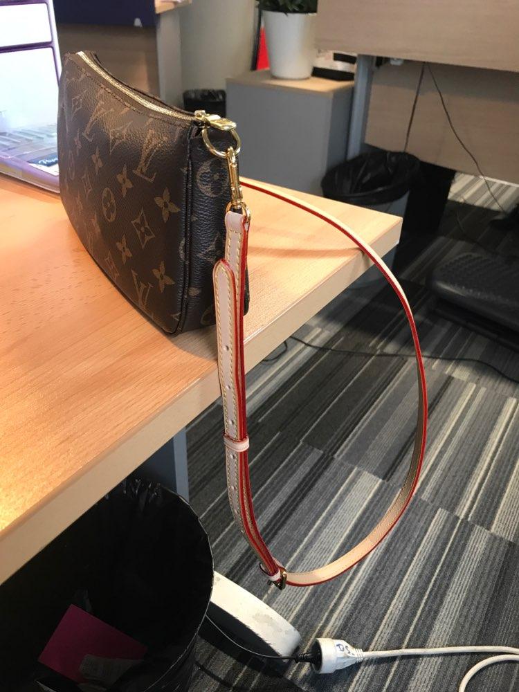 Merktas Riemaccessoires Echt lederen tas met goede kwaliteit Effen kleur schouderband Luxe schoudertas Diagonaal kruisriem photo review