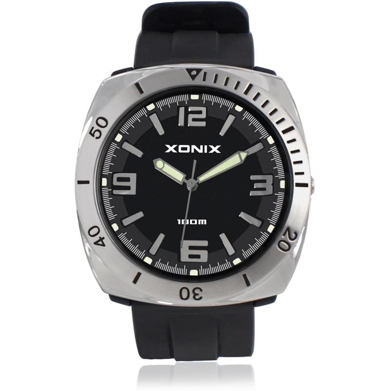 XONIX Men Sports Watches Waterproof 100m Student Watche Running Swimming Diving Wristwatch Montre Homme Relojes Hombre