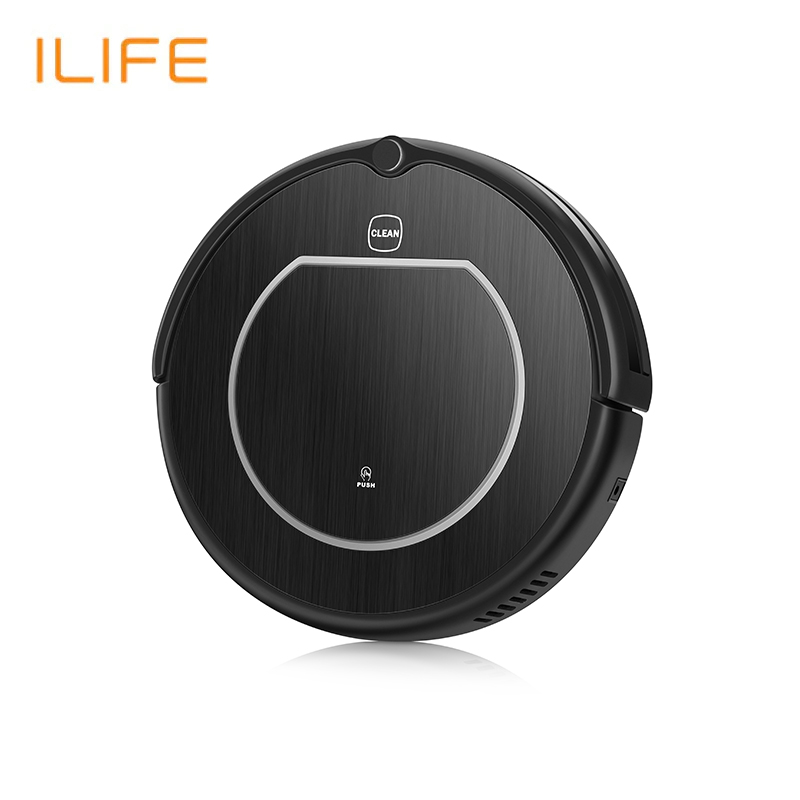 Robot vacuum cleaner ILIFE V55 Pro for dry and wet rechargeable ilife battery 14 8v 2800mah 1 battery 4 brush robotic vacuum cleaner accessories parts for chuwi ilife v7 v7s