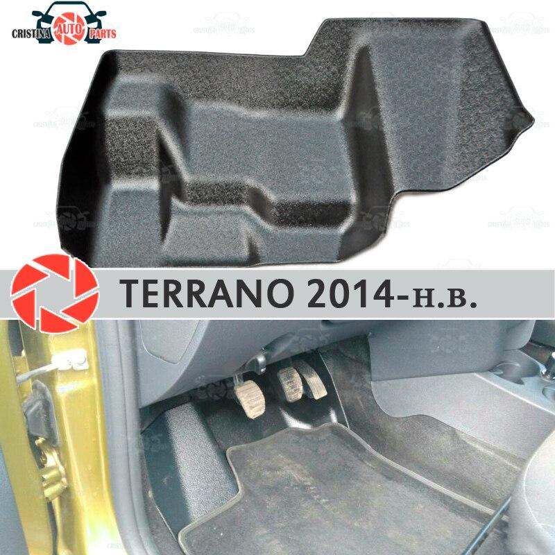 Almohadilla bajo los pedales de gas para Nissan Terrano 2014-2019 cubierta debajo de los pies accesorios de protección decoración de alfombra estilo de coche
