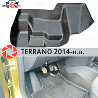 Pad under the gas pedals for Nissan Terrano 2014 2019 cover under feet accessories protection decoration carpet car styling|Chromium Styling|Automobiles & Motorcycles -