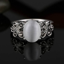 Fashion Vintage Jewelry Antique Retro Oval Natural Stone Rings For Women
