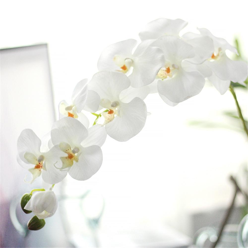 Konstgjorda orkidéblommor Real Touch Konstgjorda fjäril - Semester och fester - Foto 4