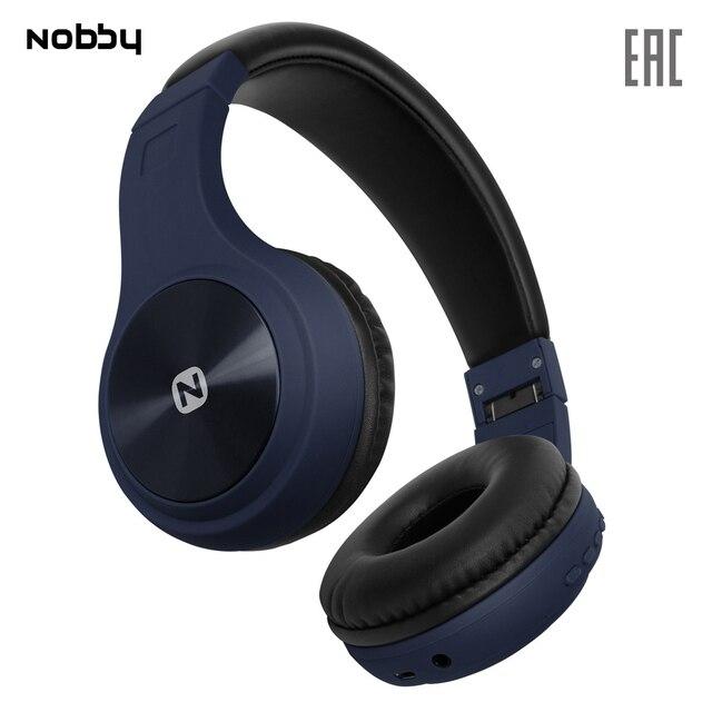 Беспроводные наушники с MP3 плеером Nobby Comfort B-230 , USB, удобные, стереогарнитура, портативные, синий