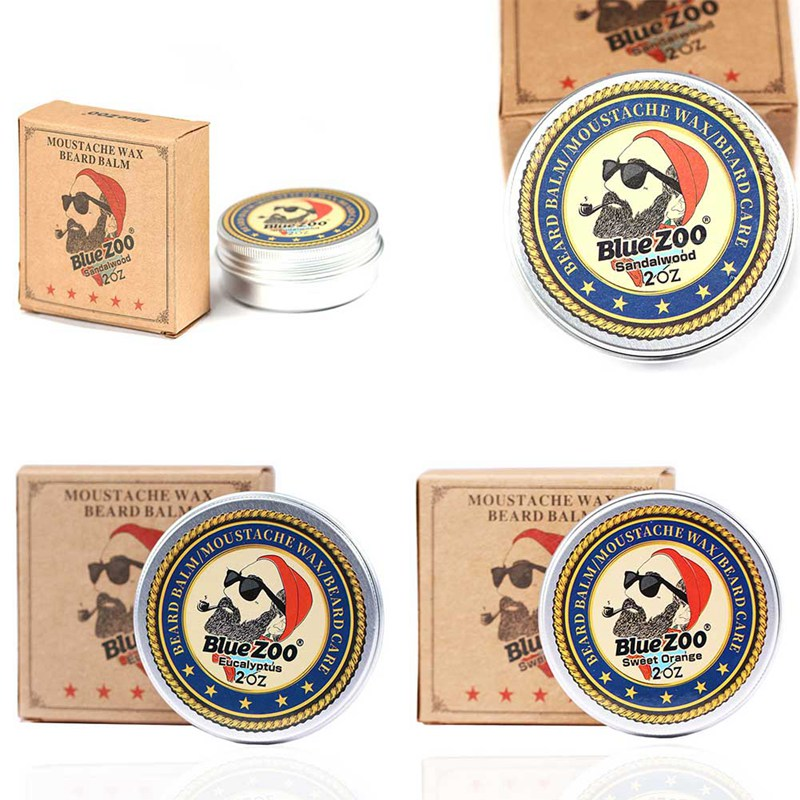 Natural Organic Beard Balm Moustache Wax Facial Hair Growth Softens and Prevents Beard Care font b
