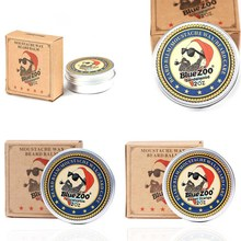 Natural Organic Beard Balm Moustache Wax Facial Hair Growth Softens and Prevents Beard Care Cream for Styling