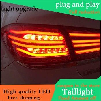 Car Styling LED Tail Lamp For Chevrolet Cruze 2015 2016 Sedan Full LED Taillights Rear Light DRL+Turn Signal+Brake+Reverse