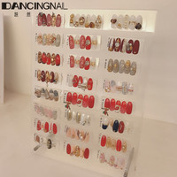 120pcs Nail Art Tips Display Rack With Magnetic Acrylic Display Board Stand Desktop Storage Holder Salon DIY Manicure Tool 2018