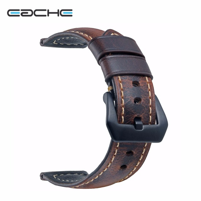 EACHE 20mm 22mm 24mm 26mmGenuine Leather Watch band dark brown light brown red b