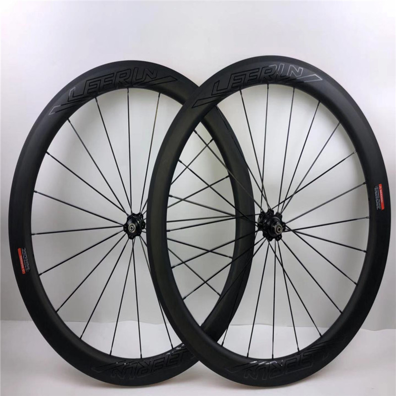 Ultra Light Carbon Bicycle Wheelset LEERUN 700C 38mm/50mm Carbon Clincher Wheels Tubular Road Bike Wheel Basalt Braking Surface