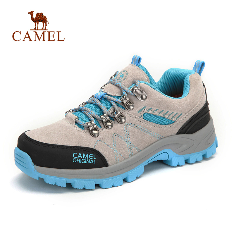 CAMEL Women Outdoor Hiking Shoes Leather Anti skid Shock Breathable Female Camping Trekking Hiking Sneakers