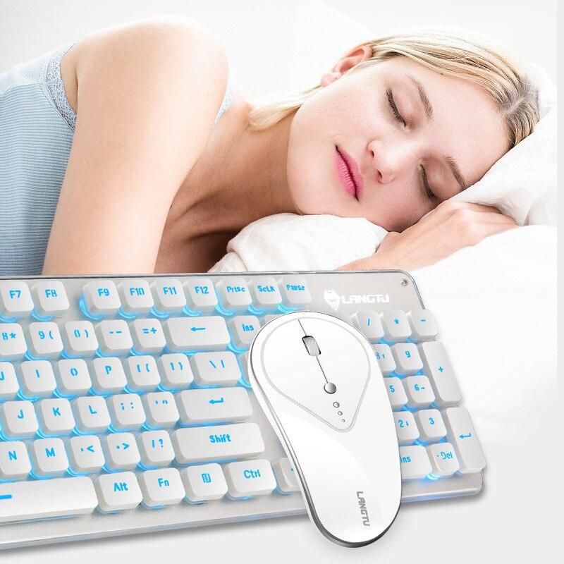 Version muette clavier souris Combos 2.4 GHz sans fil souris et clavier ensemble Rechargeable jeu souris sans fil souris et clavier