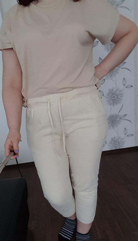 Summer Harem Pants Womens High Waist Loose Straight Nine Pants Womens Casual Trousers Large Size 6Xl Ol Pants Womens Slacks photo review