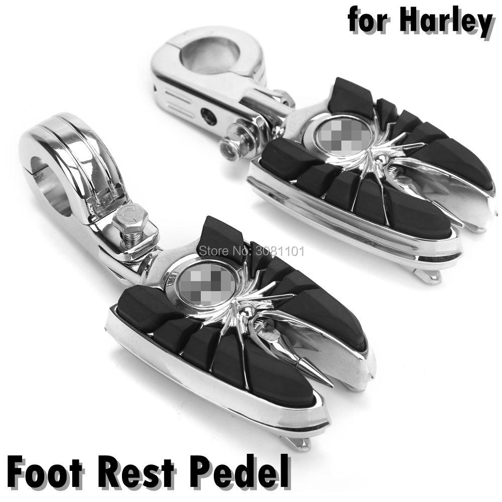 Подставка для ног педали ЧПУ черный Универсальный мотоциклов Мотокросс, пригодный для Harley