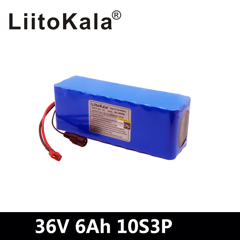 LiitoKala 36V 6ah 500W 18650 lithium battery 36V 8AH Electric bike battery with PVC case for electric bicycleLiitoKala 36V 6ah 500W 18650 lithium battery 36V 8AH Electric bike battery with PVC case for electric bicycle