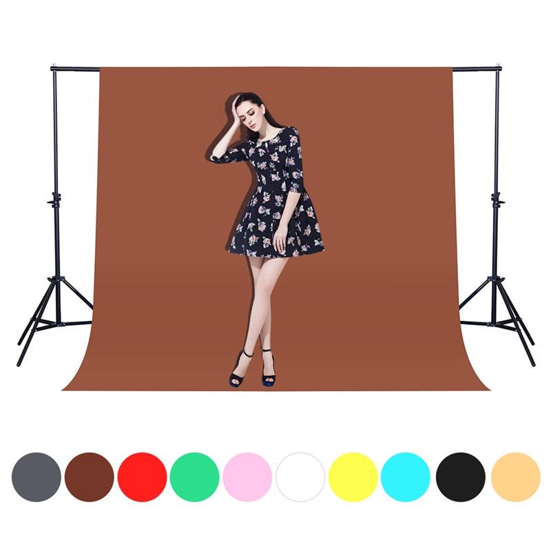 1.6X1/2/3M Fotografia Photography Backdrops Photo Studio Background Green Backdrops Non Woven Solid Video Shooting Screen