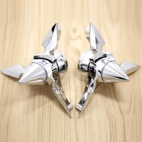 Chrome Spun Blade Spinning Axle Caps Chrome Fit Harley Motorcycle Sportster 2008 2018 Road Glides Electra Glides
