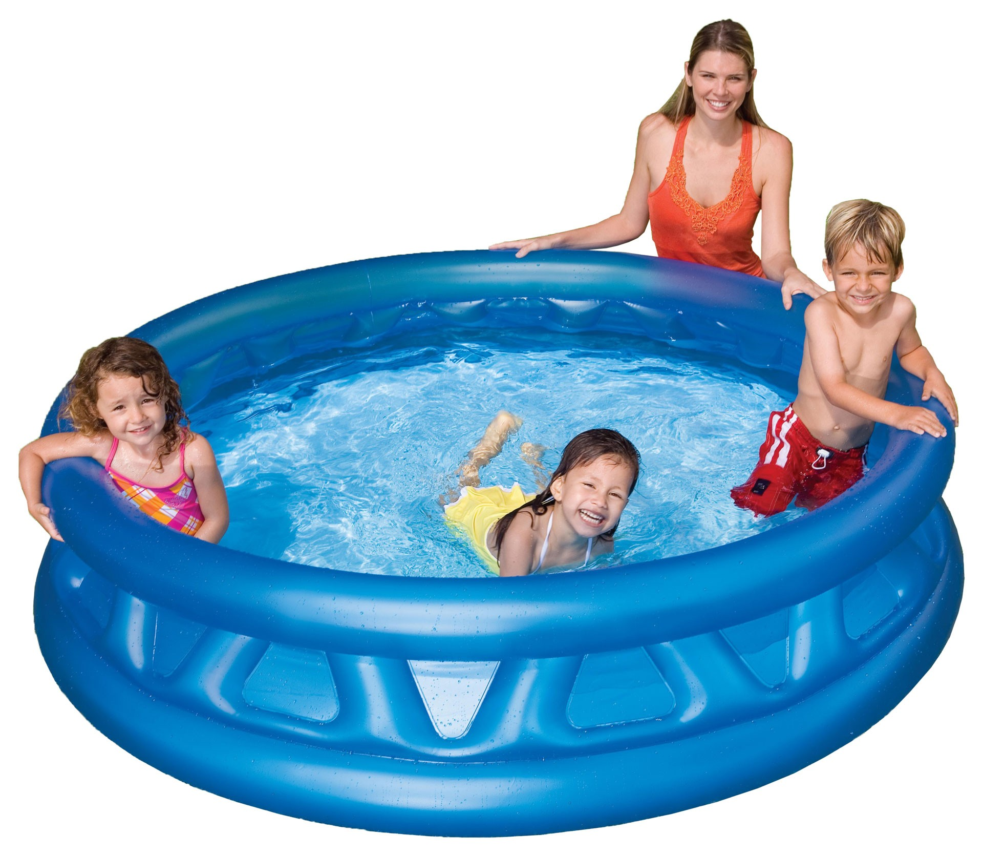 Children's Inflatable Round Swimming Pool Summer Garden Leisure Children 188x46 Cm, 790 L, Intex With Padded Walls, From 3 Years, Item No. 58431np