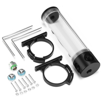 Acrylic Cylinder Reservoir Water Tank G1 4 50mm X 190mm For PC Water Cooling High Quality