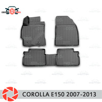 Floor mats for Toyota Corolla E150 2007 2013 rugs non slip polyurethane dirt protection interior car styling accessories