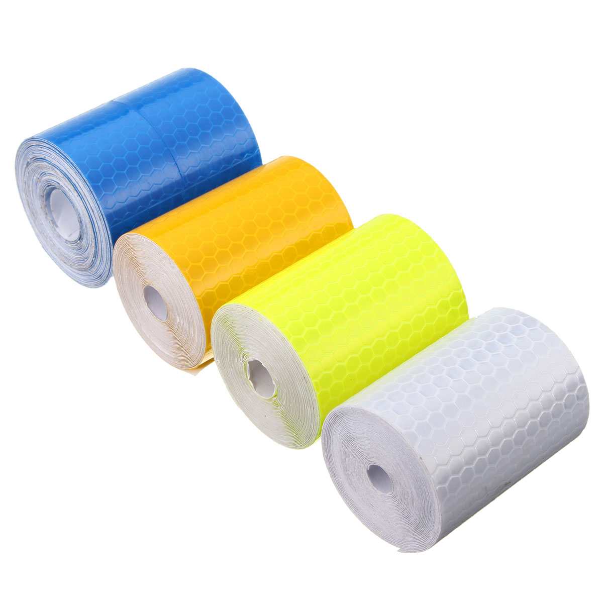 5cm x 300cm Colorful Smooth Surface Water Resistance Reflective Safety Warning Conspicuity Tape Film Sticker ...