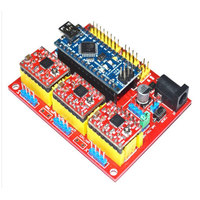 New Arrival CNC Shield V4 Expansion Board With A4988 For Arduino 3D Printer Durable Quality Convenient