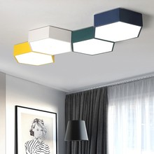 Modern LED Honeycomb Ceiling Light Ceiling Lamps for Living Room Office Home Decoration Indoor Lighting Fixture Design Creative(China)