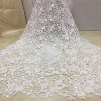 White Wedding Dress French Tulle Lace Sequin Net Lace High Quality Embroidered Nigerian Laces Fabric For Bridal X878 6