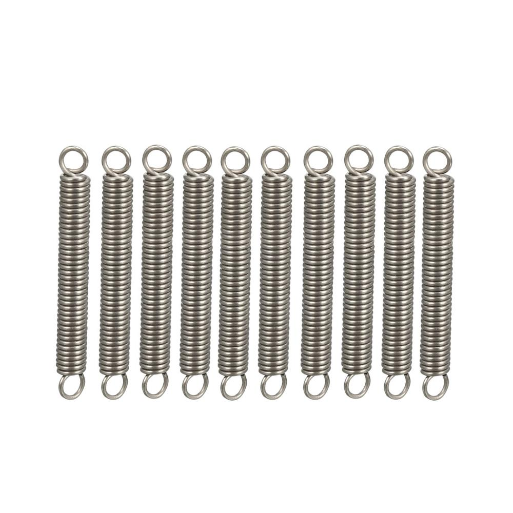 UXCELL 10pcs Extended Compressed Springs Wire Diameter Stainless Steel Small Dual Hook Tension Spring for Thermal Power Elevator in Springs from Home Improvement
