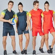 Мужские и женские майки для волейбола, дышащая форма для волейбола, мужской командный спортивный костюм для волейбола, женские футболки и шорты для волейбола