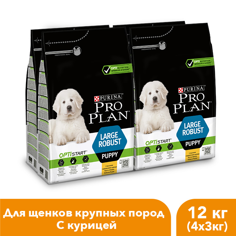Dry food Pro Plan for puppies of large breeds with a robust physique with an OPTISTART complex with chicken and rice, 12 kg. free shipping corn extruder corn puffed extrusion rice extruder corn extrusion machine food extrusion machine
