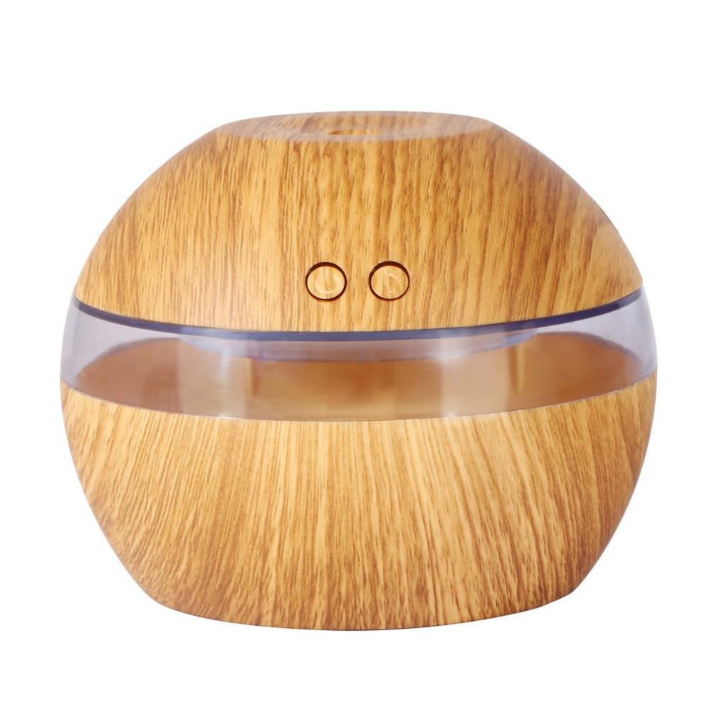 300ML Mini Air USB Ultrasonic Humidifier wood grain Aroma Diffuser Essential Oil Diffuser Aromatherapy mist maker with LED Light 100ml wood grain led ultrasonic humidifier essential oil diffuser aroma lamp aromatherapy electric aroma diffuser mist maker