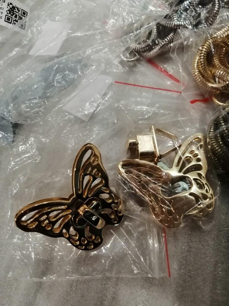 THINKTHENDO New 1PC DIY Bag Belt Twist Lock Butterfly Turn Gold Tone Clasp Purse Accessories Gold 2019 New Bag Locks photo review