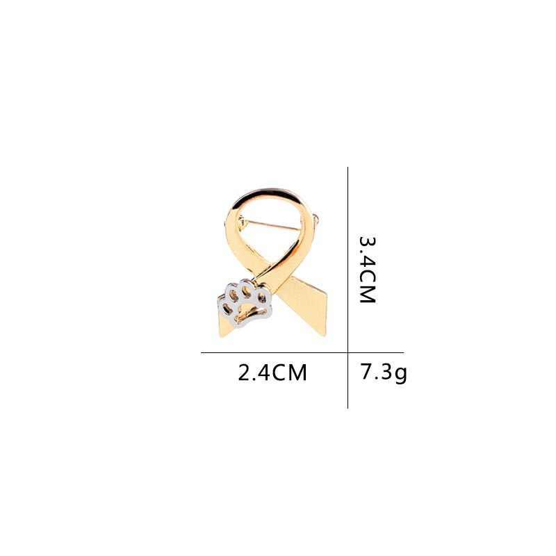 2018 di trasporto del Nuovo Creativo Personalizzato Bow Tie Ribbon Dog Claw Collare Spilla Spilli Per Le Donne Abbigliamento Sacchetto di Edage di Legame Dei Monili Panno