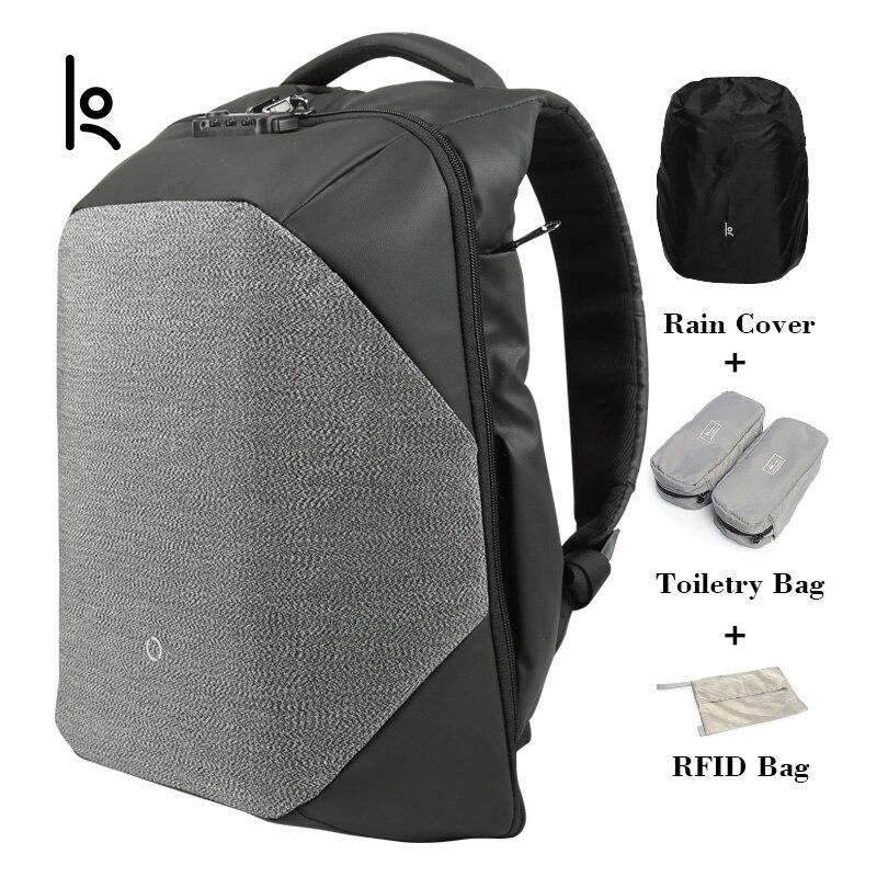 K Click Anti-thief Solid Backpacks Fashion large capacity Bags External USB Charging Laptop Backpack For Man And WomenK Click Anti-thief Solid Backpacks Fashion large capacity Bags External USB Charging Laptop Backpack For Man And Women