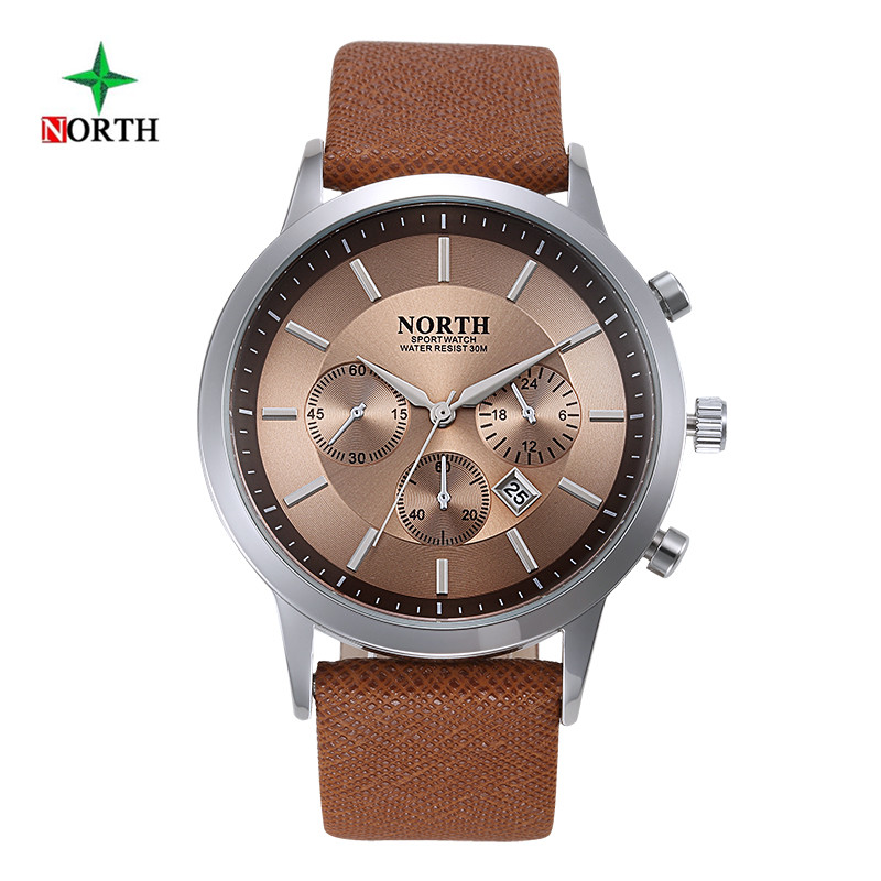 NORTH Fashion Men Famous Brand Quartz Watch Mens Watches Top Brand Luxury Montre Homme Sport Waterproof Wristwatch Male Clock 2017 mens watches top brand luxury julius boy male business waterproof wristwatch date quartz watch men relogio montre homme