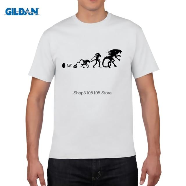 0f79e224 GILDAN retro t shirt Alien Vs Predator Comic Art AVP commission T-shirt Top  Lycra Cotton Men T shirt
