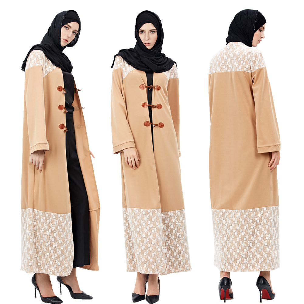 Women Turkish Abaya Jilbab Cardigan Hui Islamic Muslim Cocktail Maxi Dress Robes Arab Malaysia Worship Service Duffle Coat Gown
